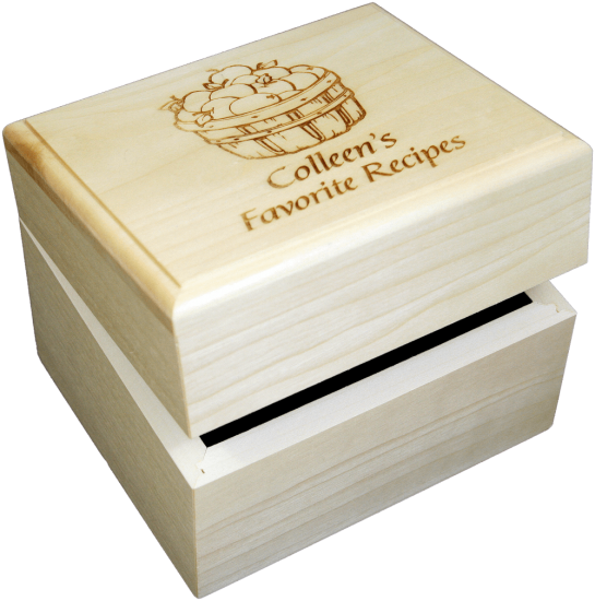 Custom Recipe Box Personalized Wood Recipe Box That S