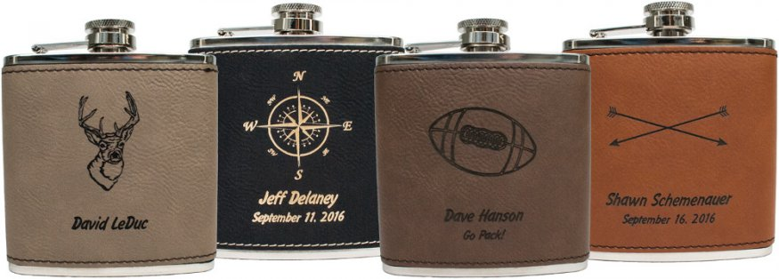 Custom Engraved Flasks Personalized Leather Flasks